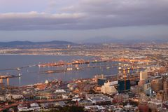 Vista aérea de Cape Town de la colina de la señal, Suráfrica Fotos de archivo