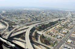 Vista aérea de carreteras Fotografía de archivo libre de regalías