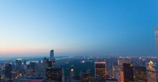 Vista aérea de Central Park en New York City fotos de archivo