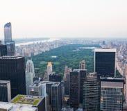 Vista aérea de Central Park en New York City fotografía de archivo