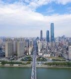 Vista aérea de changsha moderno fotos de stock royalty free