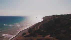Vista aérea de Chipre almacen de video