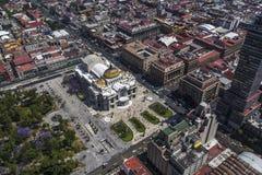 Vista aérea de Ciudad de México y de x27; artes de s palacio de bellas Imagen de archivo libre de regalías