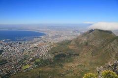 Vista aérea de Ciudad del Cabo Foto de archivo libre de regalías