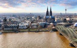 Vista aérea de Colonia, Alemania fotografía de archivo libre de regalías
