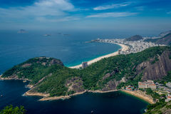 Vista aérea de Copacabana foto de stock royalty free