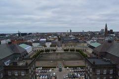 Vista aérea de Copenhaga fotos de stock royalty free