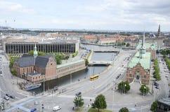 Vista aérea de Copenhague fotos de archivo
