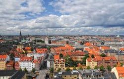 Vista aérea de Copenhague, Dinamarca Fotos de archivo libres de regalías