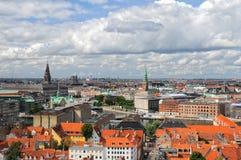Vista aérea de Copenhague, Dinamarca foto de archivo libre de regalías