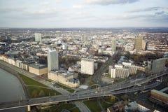 Vista aérea de Düsseldorf Imagen de archivo libre de regalías