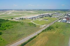 Vista aérea de Dallas Imagens de Stock