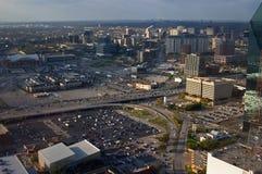 Vista aérea de Dallas Imagen de archivo libre de regalías
