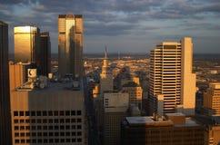 Vista aérea de Dallas Fotos de archivo libres de regalías