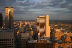 Vista aérea de Dallas Fotos de archivo