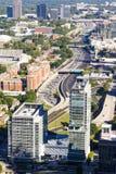 Vista aérea de 85 de um estado a outro Atlanta, Geórgia Fotos de Stock Royalty Free