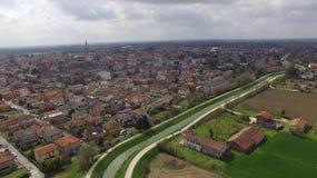 Vista aérea de Dolo, Veneza fotos de stock royalty free