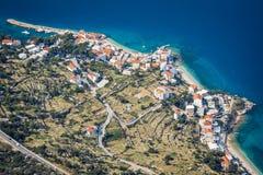 Vista aérea de Drasnice Fotografía de archivo libre de regalías