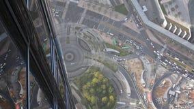 Vista aérea de Dubai céntrico con los rascacielos almacen de metraje de vídeo