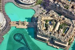 Vista aérea de Dubai do centro Foto de Stock