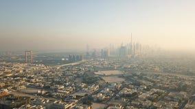 Vista aérea de Dubai almacen de video