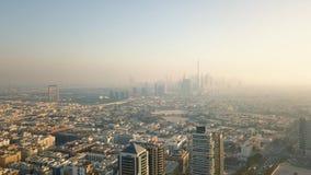 Vista aérea de Dubai almacen de metraje de vídeo