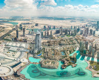 Vista aérea de Dubai (United Arab Emirates) Imagem de Stock