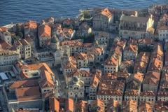 Vista aérea de Dubrovnik fotos de archivo libres de regalías
