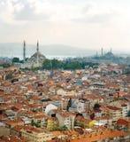 Vista aérea de Eminonu y de la nueva mezquita Imágenes de archivo libres de regalías