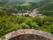 Vista aérea de Esch-sur-Sûre Imagens de Stock Royalty Free