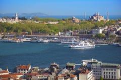Vista aérea de Estambul foto de archivo