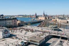 vista aérea de Estocolmo Foto de archivo libre de regalías