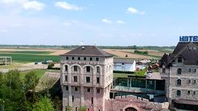 Vista aérea de Ethno Willage Stanisici almacen de video