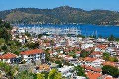 Vista aérea de Fethiye, Turquia imagens de stock
