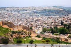 Vista aérea de Fez Fotografia de Stock