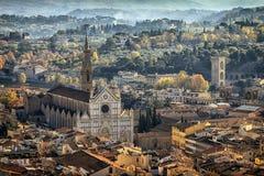 Vista aérea de Florença, Italy Foto de Stock Royalty Free