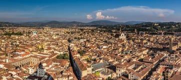 Vista aérea de Florencia Imagen de archivo