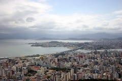 Vista aérea de Florianopolis-SC el Brasil Imagenes de archivo