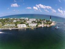 Vista aérea de Florida litoral imagem de stock