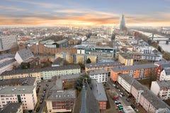 Vista aérea de Francoforte - am - cano principal imagem de stock