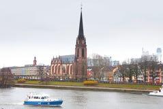 Vista aérea de Francoforte - am - cano principal fotos de stock royalty free