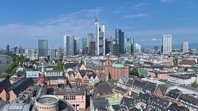 Vista aérea de Frankfurt-am-Main, Alemania Foto de archivo libre de regalías