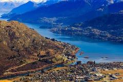 Vista aérea de Frankton Imagens de Stock Royalty Free