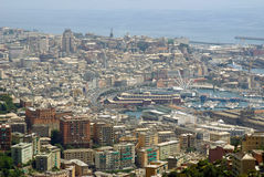 Vista aérea de Génova, Italia Imagen de archivo