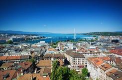 Vista aérea de Genebra Imagens de Stock Royalty Free