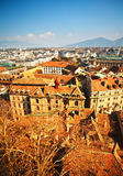 Vista aérea de Genebra velha Fotografia de Stock Royalty Free