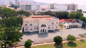 Vista aérea de Georgetown Penang, Malasia almacen de video