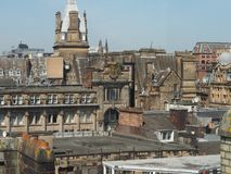 Vista aérea de Glasgow Foto de archivo