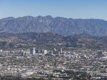 Vista aérea de Glendale céntrica fotografía de archivo libre de regalías