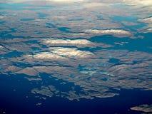 Vista aérea de Groenlandia fotografía de archivo
